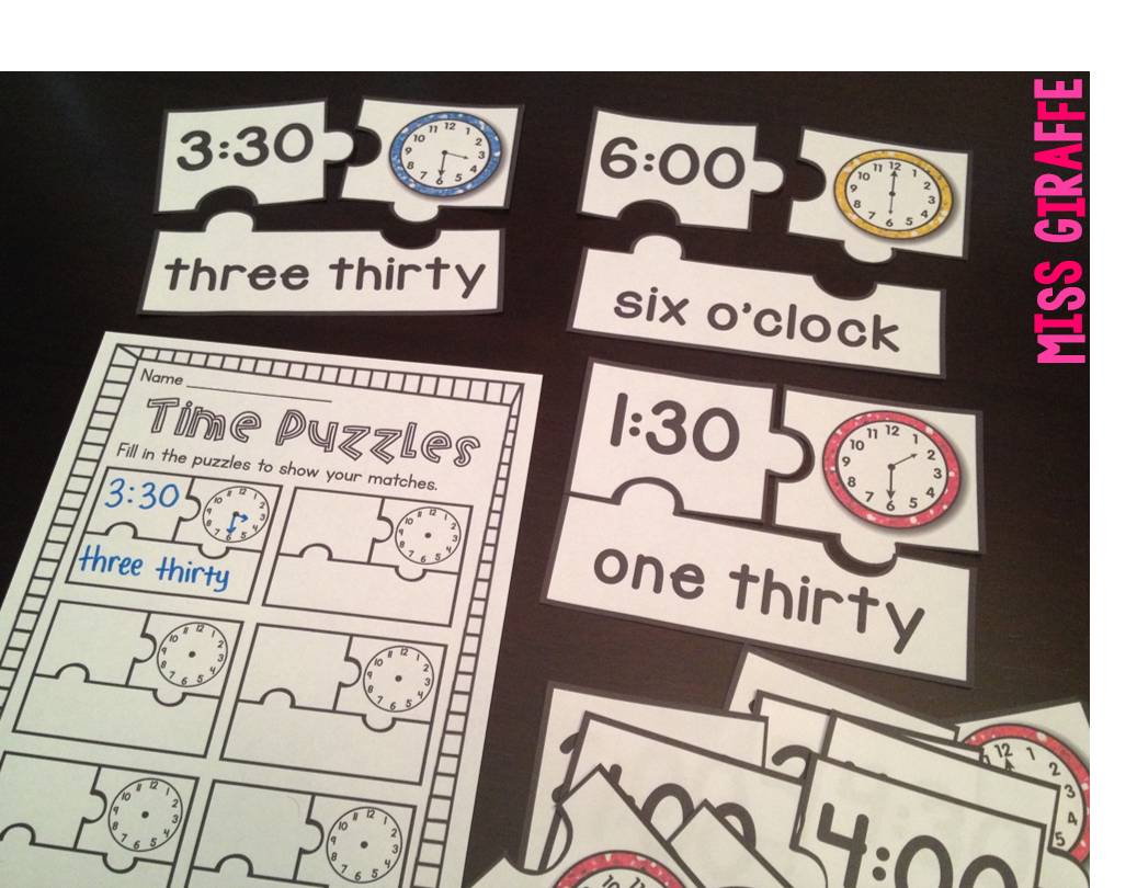 Miss Giraffe's Class: Telling Time in First Grade