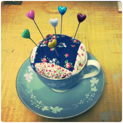 craftypainter: teacup pincushion