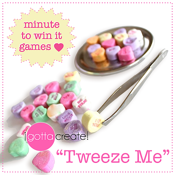 use conversation hearts to adapt this minute to win it game for valentine parties - Valentine Minute To Win It Games