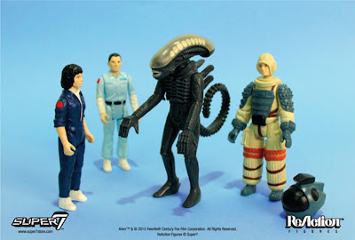 "Super 7 3.75"" Kenner Alien ReAction Figures"