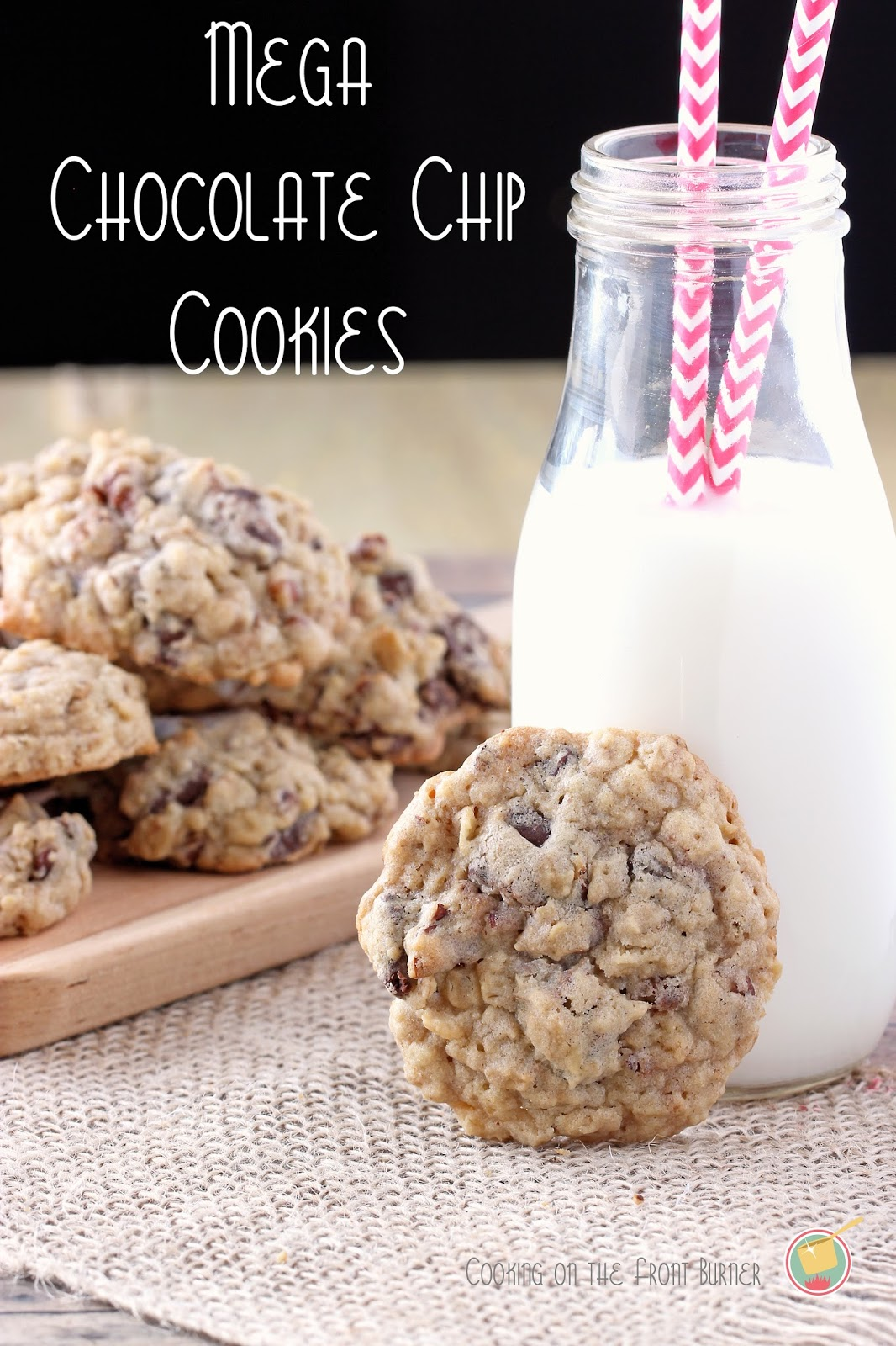 Mega Chocolate Chip Cookies | Cooking on the Front Burner #dessert #nestles