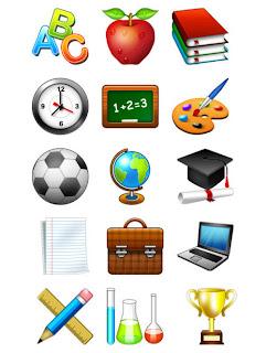 iconos colegio en psd