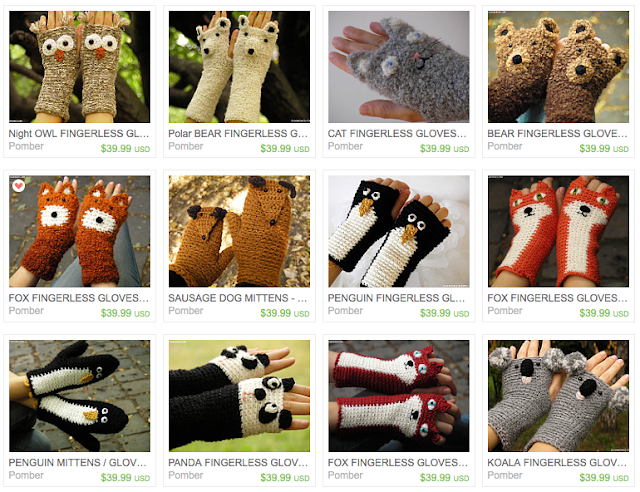 etsy, handmade, shopping, gloves, winter, cold weather, Christmas