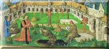 L'inhumation - livre d'heure de 1475
