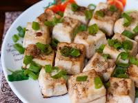 Tofu Assado com Gengibre e Shoyu (vegana)