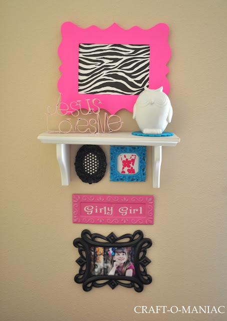 Girl's Bedroom Decor www.craft-o-maniac.com