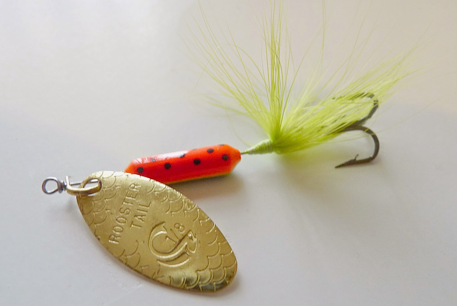 The green angler for Rooster tail fishing lure