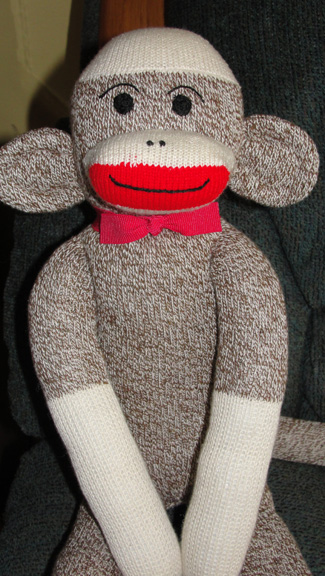 Sock monkey for baby