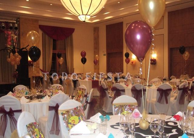 Decoraci n con globos de todo fiesta decoraci n para - Decoracion fin de ano ...