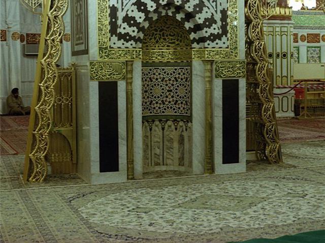 Inside Masjid Nabvi Beautiful