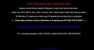 Craigslist down SOPA