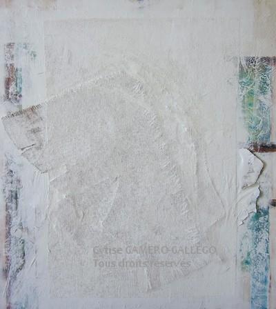 BLANC 3 - Sur toile 90x10  cm - 36x40 inc