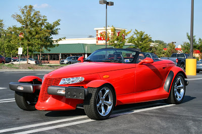 Red Plymouth Prowler at South Square