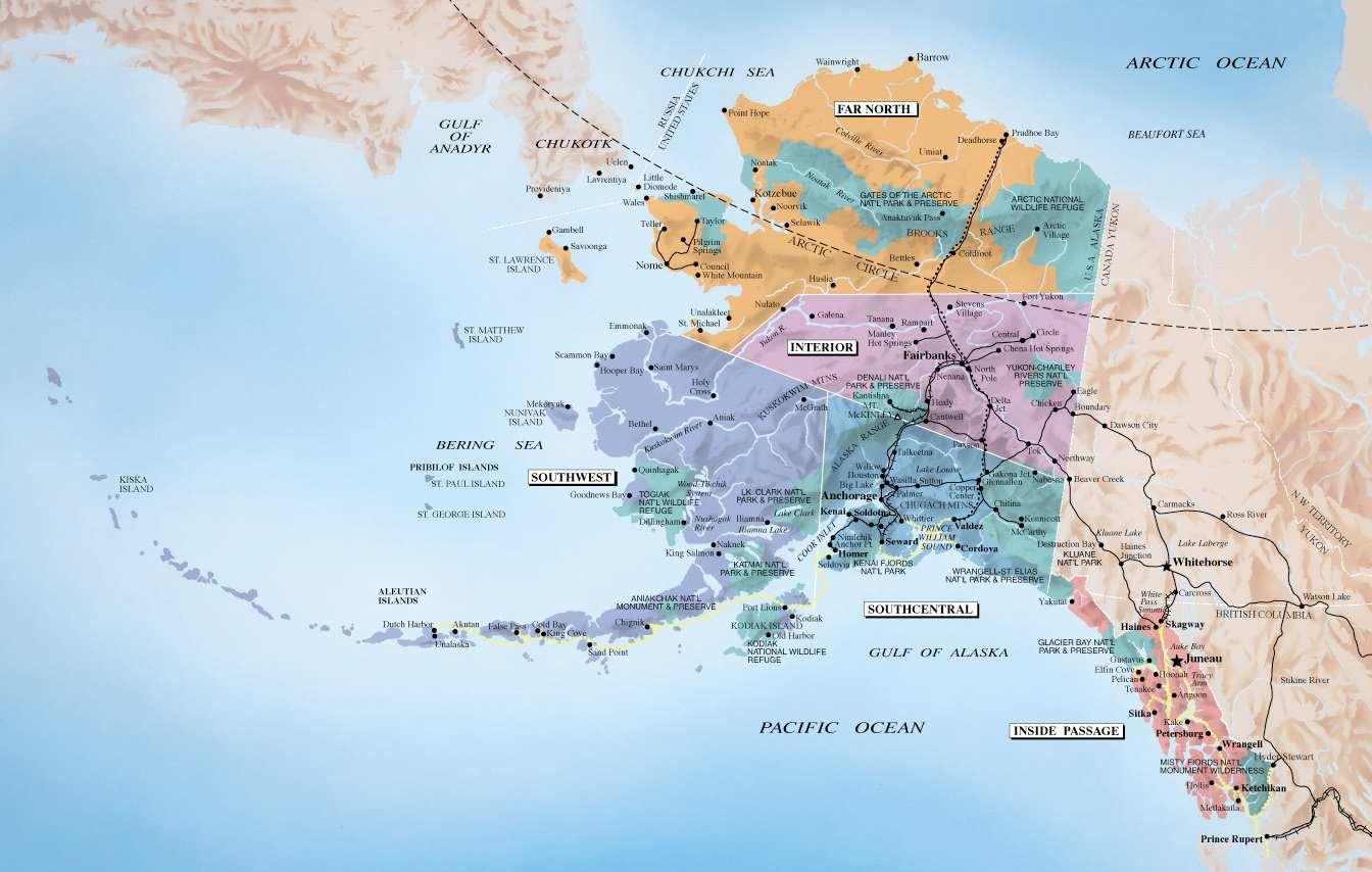 Nutmeg in Alaska: Travel Map
