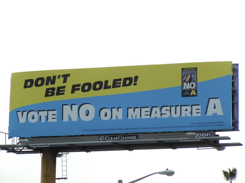 West Hollywood's No on Measure A billboard