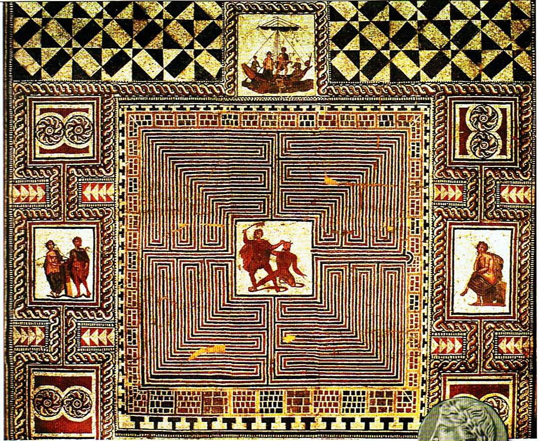 old maps expeditions and explorations minotaur in the labyrinth