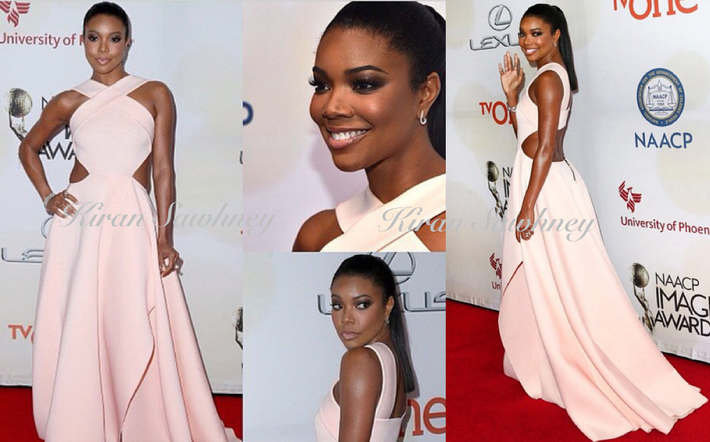 Gabrielle Union at NCAAP Image Awards 2015 in Gauri and Nainika