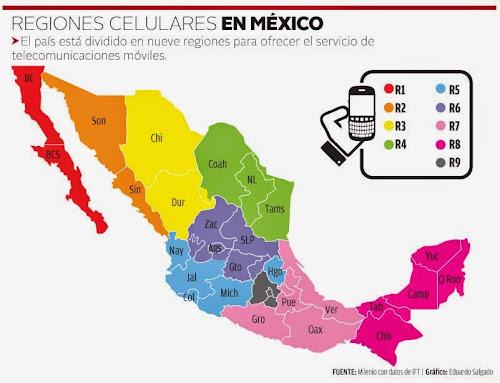 Regiones Telcel y Movistar México