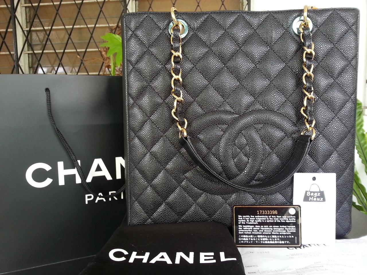c048b406b5d1 Bagz Hauz Fashion: **SOLD** ~ CHANEL PST XL in Black caviar with GHW