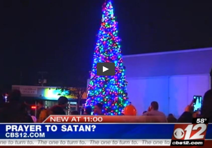 "Recall Christmas 'gift' from CBS12? Click on ""Prayer To Satan?"""