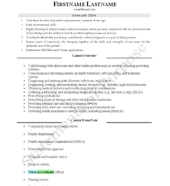 Nurse Practitioner Resume Cover Letter Examples Images Of How To