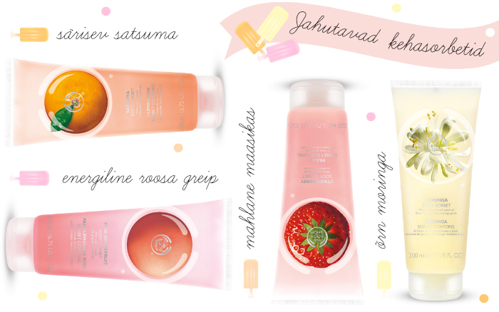 rhe body shop body sorbets