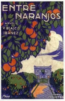 Portada del libro entre naranjos para descargar en epub y pdf gratis