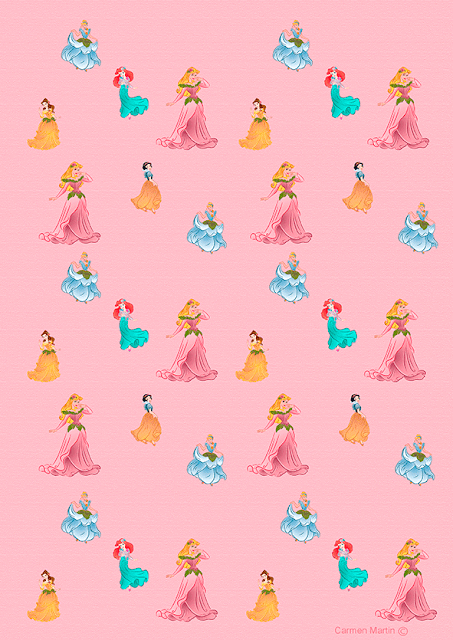 papel de regalo princesas disney