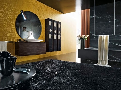Use of colour black in interior design and decor