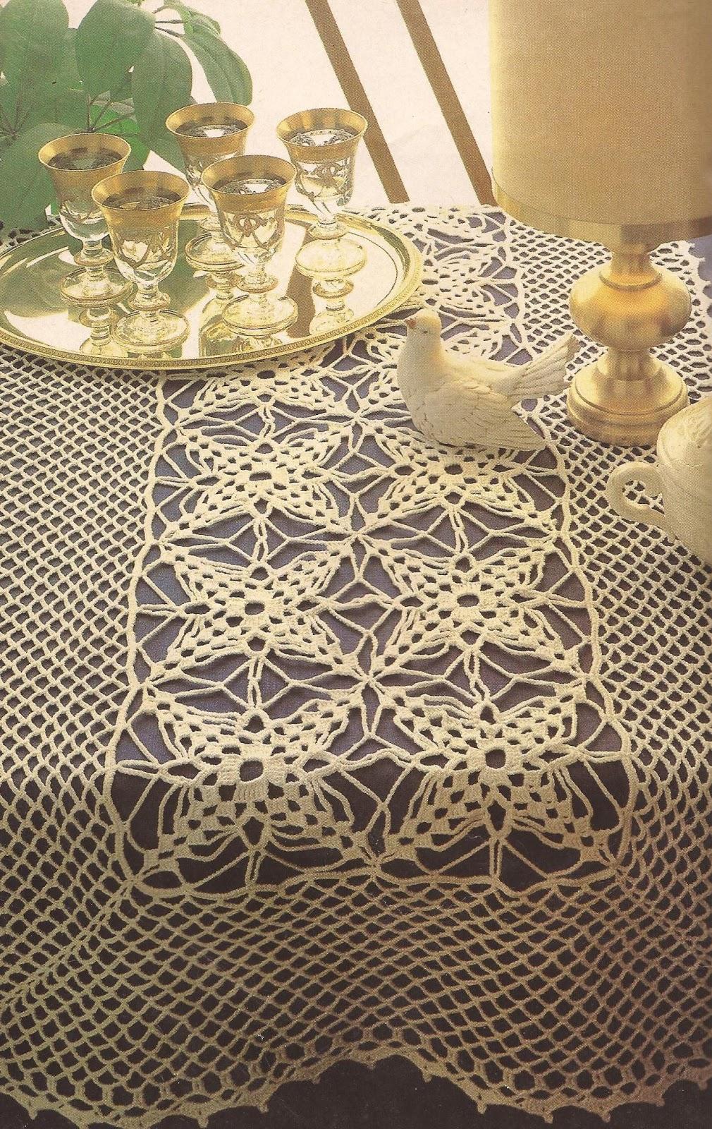 Camino de mesa a crochet esquemas - Camino de mesa elegante en crochet ...
