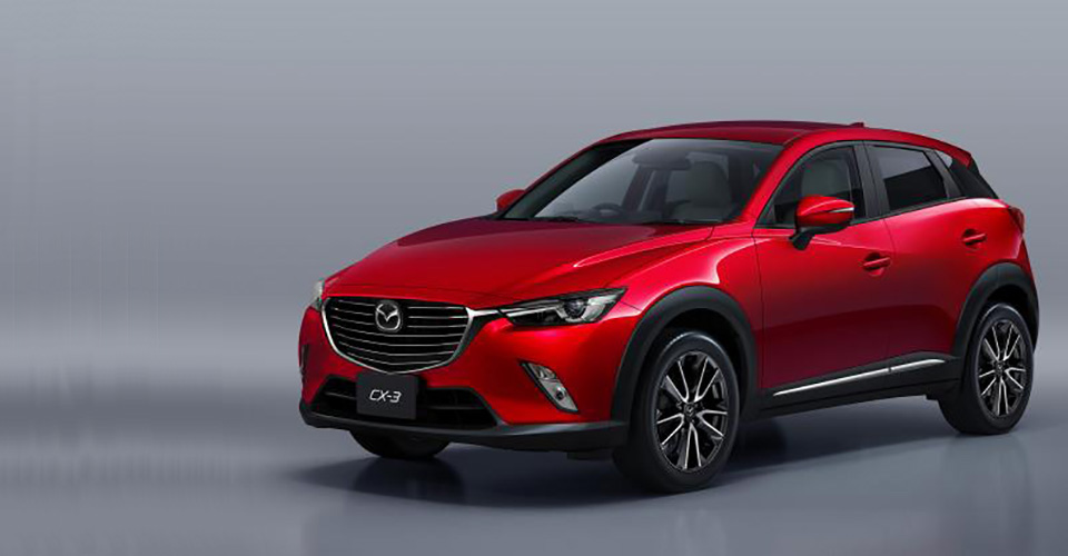 first photos of 2016 mazda cx 3 small crossover look legit. Black Bedroom Furniture Sets. Home Design Ideas