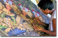 Painting artist at Ubud