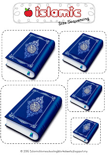 Islamic Size Sequencing Blue Quran