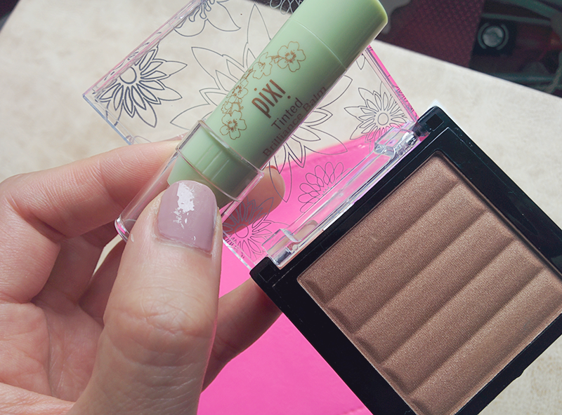 pixi beauty mini tinted brilliance balm, pop beauty sunkissed bronzer