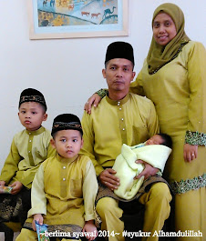 It's US. our little family...berlima syawal,Alhamdulillah