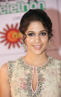 Actress Lavanya Tripathi Latest Pictures in Long Dress at Memu Saitam Dinner with Stars Red Carpet  36