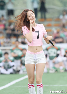 Im Yoona Korean Cute Girl Singer Sexy Photo at Namyangju Central Football Game 24