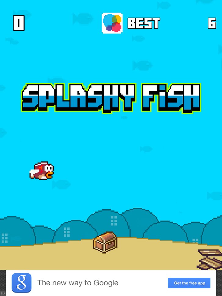 Splashy Fish - The Adventure Of A Flappy Tiny Bird Fish Free App By Massimo Guareschi