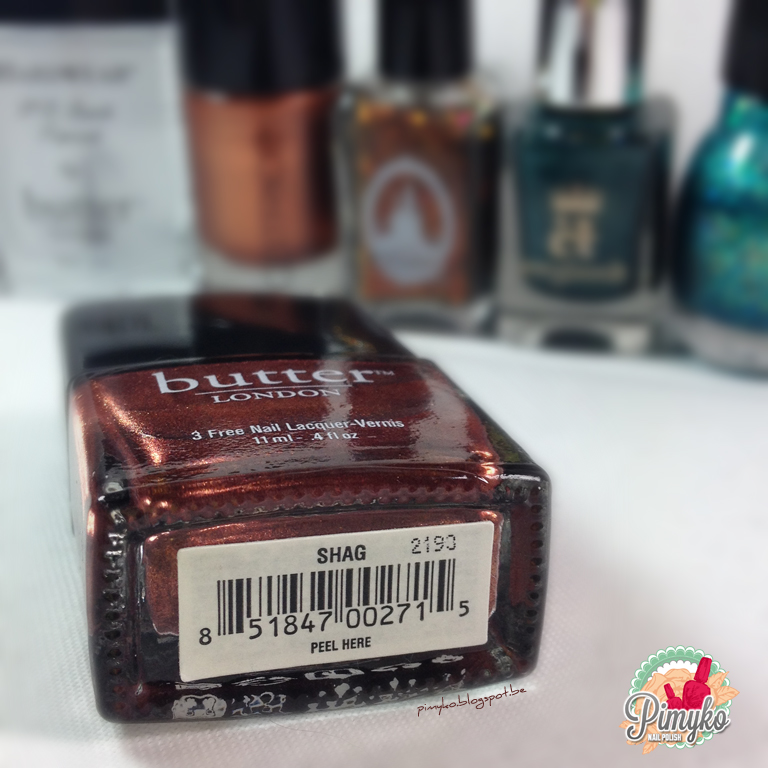"Pimyko nailart ""Shag"" by Butter London"