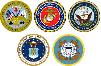 U.S. Armed Forces Logos.