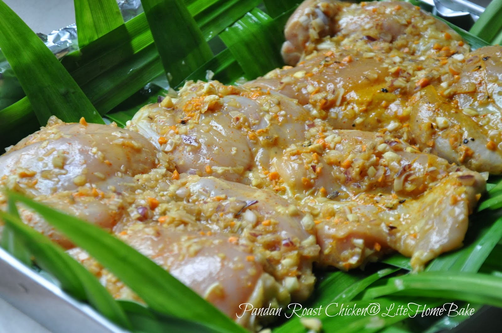 Pandan Chicken, the Lazier Way ~ Lite Home Bake