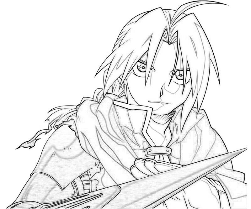 Fullmetal Alchemist Edward Elric Handsome Tubing Fullmetal Alchemist Coloring Pages