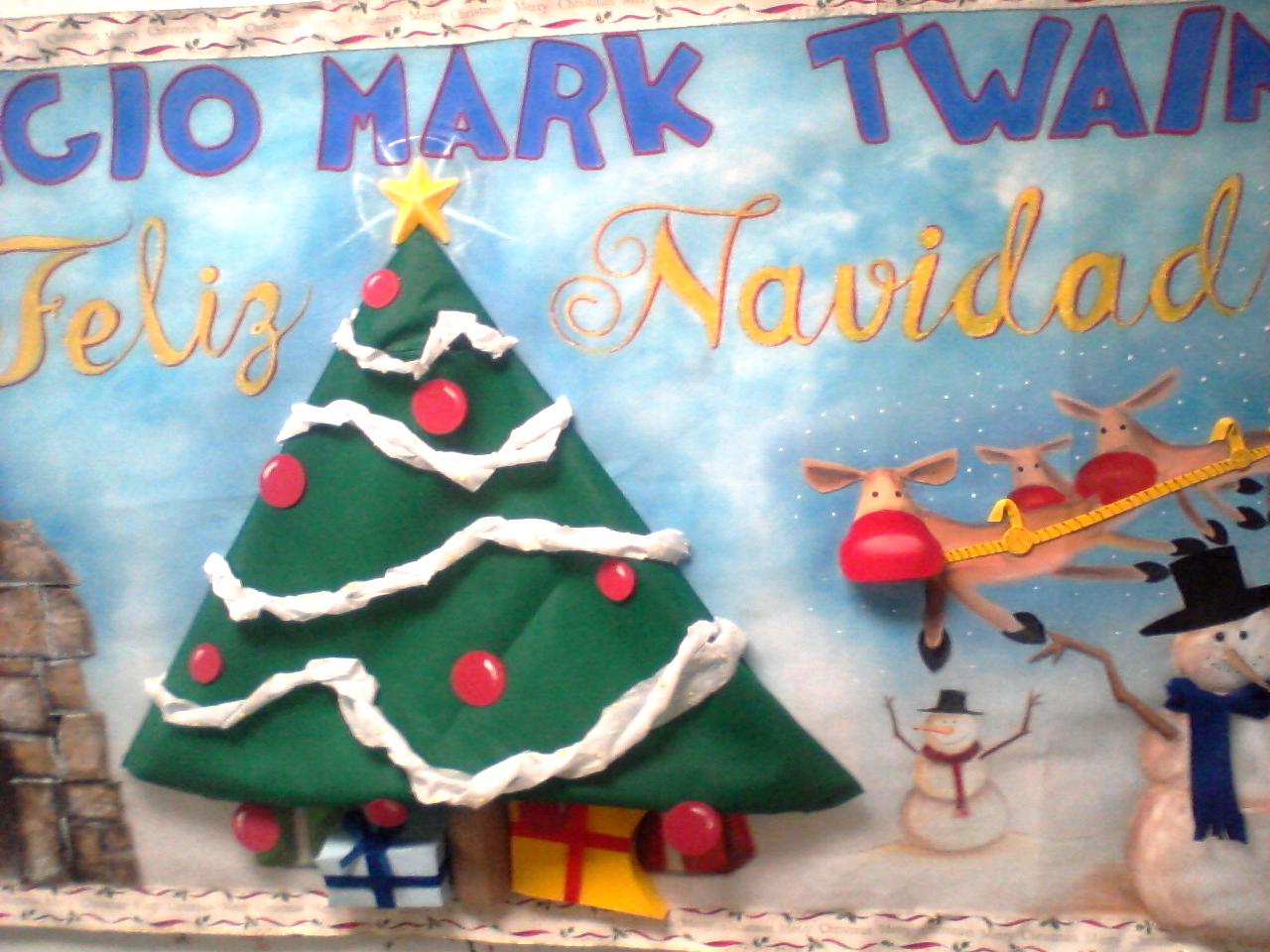 Maquetas dibujos y dise os murales para fiesta for Mural navideno