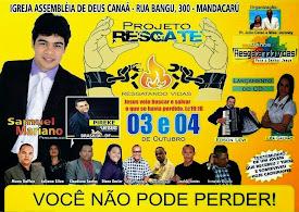 Projeto Resgate 2014 de Jequié-BA.