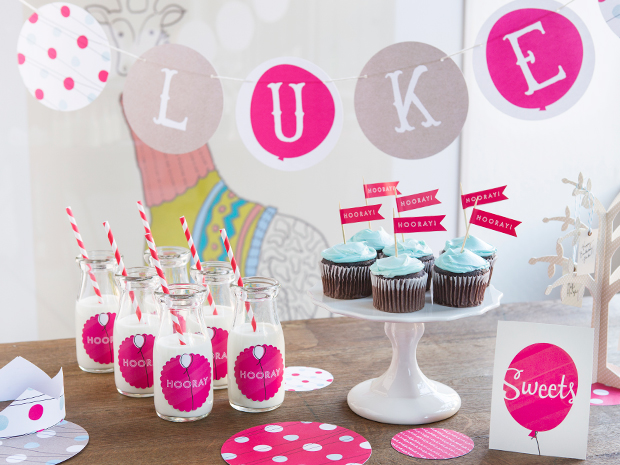 Minted party decor birthday