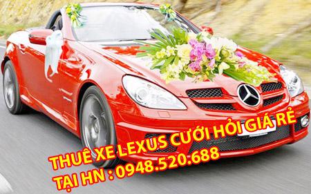 thuê xe cưới lexus có lái