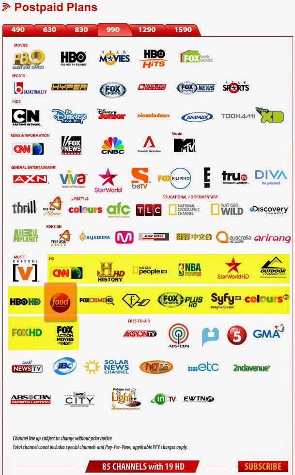 Cignal TV Postpaid Plan