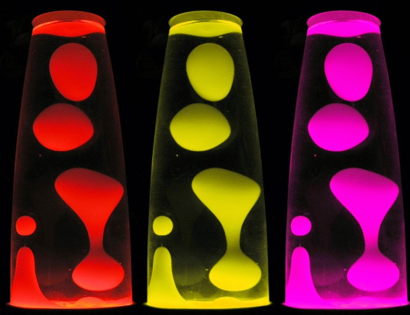 different lava lamps