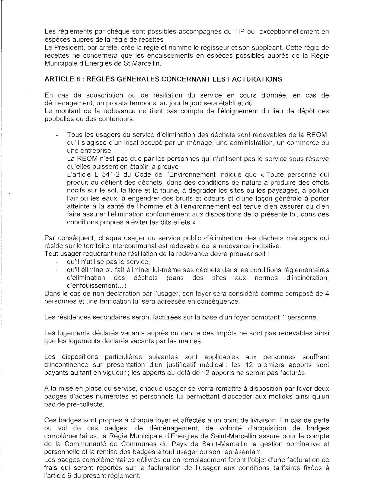 Pour un tri selectif efficace r glement int rieur sur la for Reglement interieur association pdf