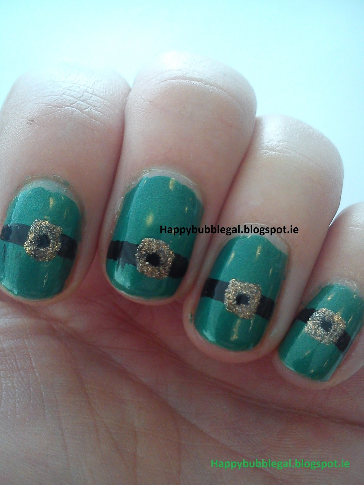 Happy Bubble Gal: St Patrick\'s Day Nail Art #2
